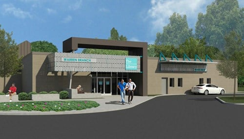 Renovation of the Warren branch is expected to be complete in September.