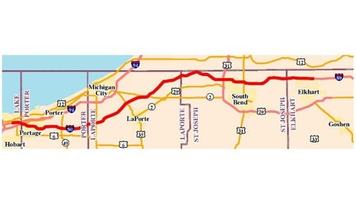 Toll Road Operator Updates Next Stages - Inside INdiana Business Indot Indiana Toll Road Map on us highway 31 michigan map, illiana expressway toll road map, interstate 49 missouri map, south bend indiana road map,