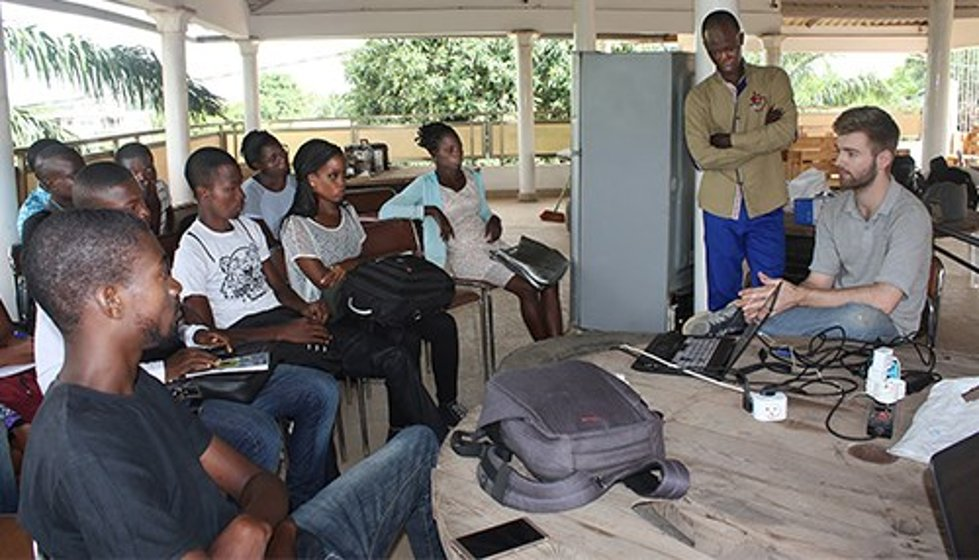 Massey's first fellowship took him to Togo, Africa. (photo courtesy of Purdue University)