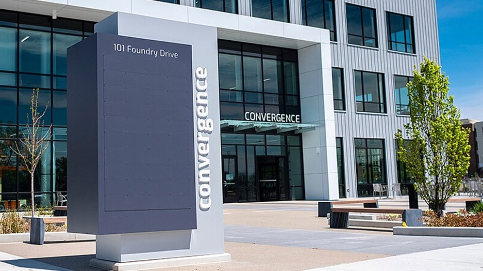 The Convergence Center at the Purdue Discovery Park District. (photo courtesy: Purdue)