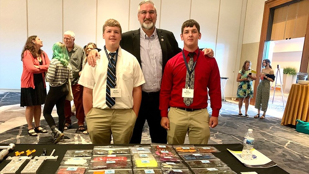 Southern Indiana Bait Co. won the top prize. (photo courtesy of the IEDC)