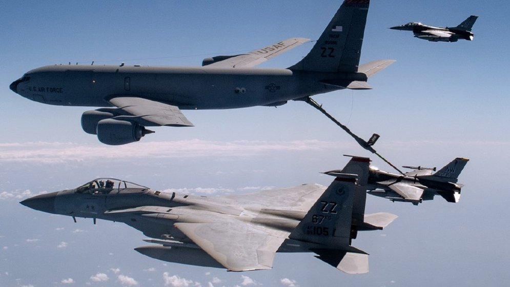 U.S. Air Force jets during a refueling operation. (photo courtesy: Rolls-Royce North America)